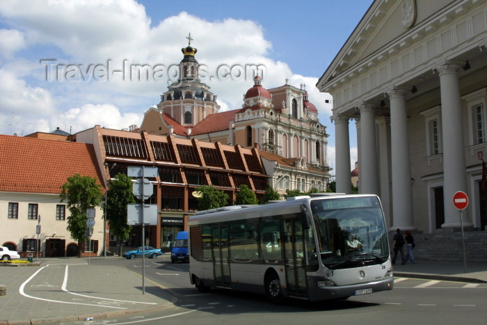 lithuania82: Lithuania - Vilnius: Old City Hall and St. Casimir's Jesuit Church - photo by A.Dnieprowsky - (c) Travel-Images.com - Stock Photography agency - Image Bank