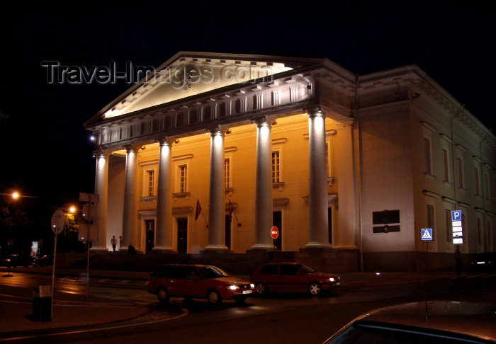 lithuania85: Lithuania - Vilnius: Old City Hall, now the Contemporary Art Center - nocturnal - night - photo by A.Dnieprowsky - (c) Travel-Images.com - Stock Photography agency - Image Bank