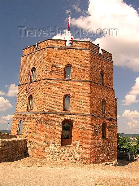 lithuania94: Lithuania - Vilnius / VIlna: Gediminas' Tower on its hilltop - photo by J.Kaman - (c) Travel-Images.com - Stock Photography agency - Image Bank