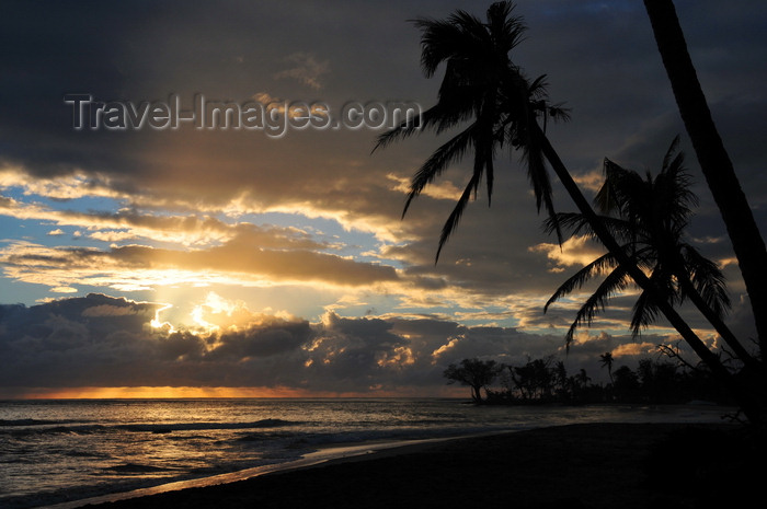 madagascar133: Mahambo, Analanjirofo, Toamasina Province, Madagascar: beach and coconut trees - sunrise on the Indian Ocean - lever de soleil  - photo by M.Torres - (c) Travel-Images.com - Stock Photography agency - Image Bank