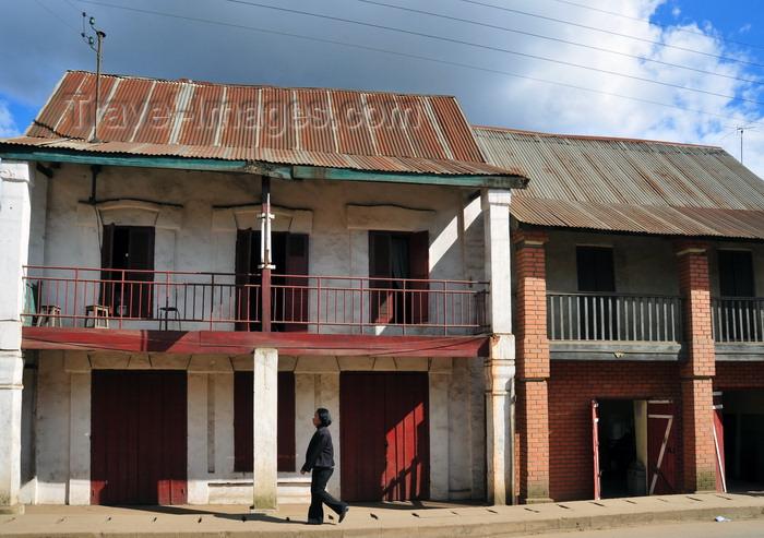 madagascar143: Moramanga, Alaotra-Mangoro, Toamasina Province, Madagascar: old façades - photo by M.Torres - (c) Travel-Images.com - Stock Photography agency - Image Bank