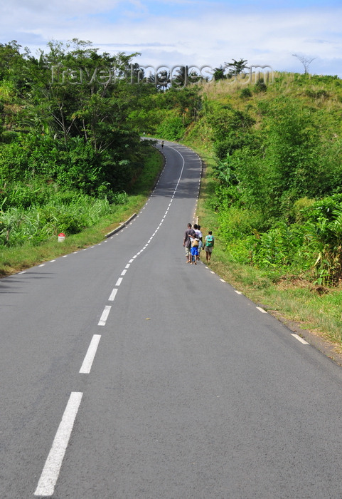 madagascar169: RN2, Atsinanana region, Toamasina Province, Madagascar: a well paved stretch of the RN2, the highway that allows Tana acess to the port city of Tamatave - asphalt - photo by M.Torres - (c) Travel-Images.com - Stock Photography agency - Image Bank