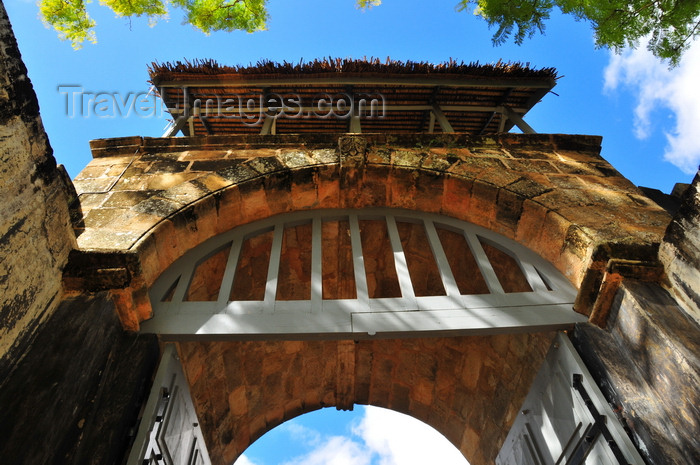 madagascar187: Ambohimanga Rova, Antananarivo-Avaradrano, Analamanga region, Antananarivo province, Madagascar: Royal Hill of Ambohimanga - main gate of the Rova fortress-palace - masonry arch - UNESCO world heritage site - photo by M.Torres - (c) Travel-Images.com - Stock Photography agency - Image Bank