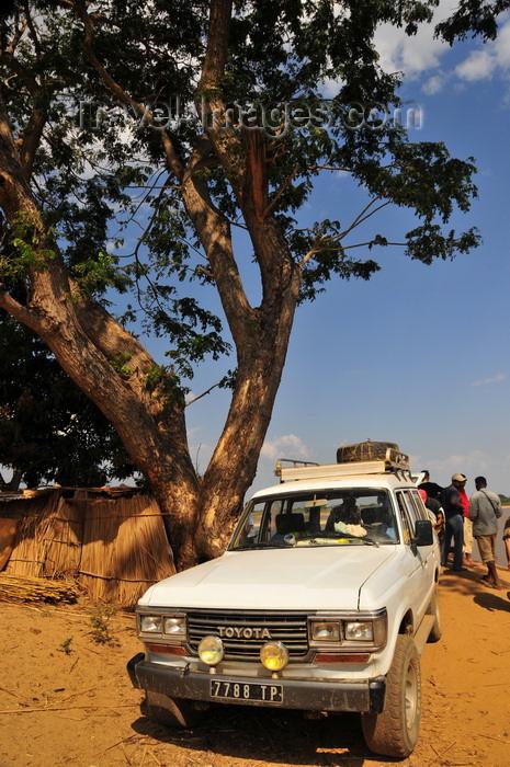 madagascar222: Tsimafana, Belo sur Tsiribihina,  Menabe Region, Toliara Province, Madagascar: Toyota 4WD waits for a ferry - photo by M.Torres - (c) Travel-Images.com - Stock Photography agency - Image Bank