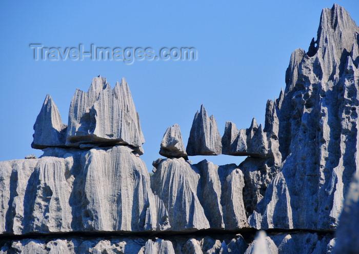 madagascar306: Tsingy de Bemaraha National Park, Mahajanga province, Madagascar: blocks carved with blades and sharp needles - karst limestone formation - UNESCO World Heritage Site - photo by M.Torres - (c) Travel-Images.com - Stock Photography agency - Image Bank