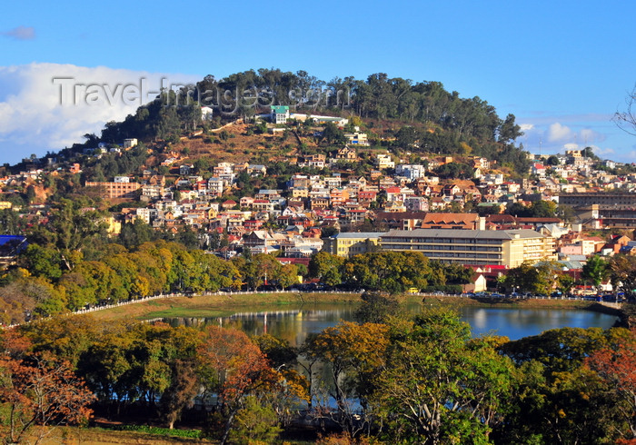 madagascar345: Antananarivo / Tananarive / Tana - Analamanga region, Madagascar: Anosy Lake and one of the capital's 12 sacred hills, colline du fort Voyron - Maternité de Befelatanana - photo by M.Torres - (c) Travel-Images.com - Stock Photography agency - Image Bank