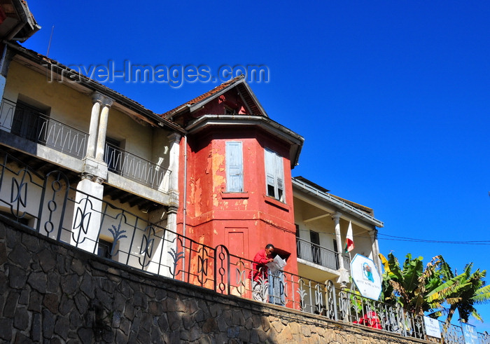 madagascar380: Antananarivo / Tananarive / Tana - Analamanga region, Madagascar: Institut National du Travail - Intra - old French building on Rue Ravelojaona - photo by M.Torres - (c) Travel-Images.com - Stock Photography agency - Image Bank