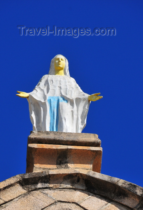 madagascar385: Antananarivo / Tananarive / Tana - Analamanga region, Madagascar: the Virgin Mary atop the façade of Andohalo cathedral - Cathédrale de l'Immaculée Conception d'Andohalo - photo by M.Torres - (c) Travel-Images.com - Stock Photography agency - Image Bank