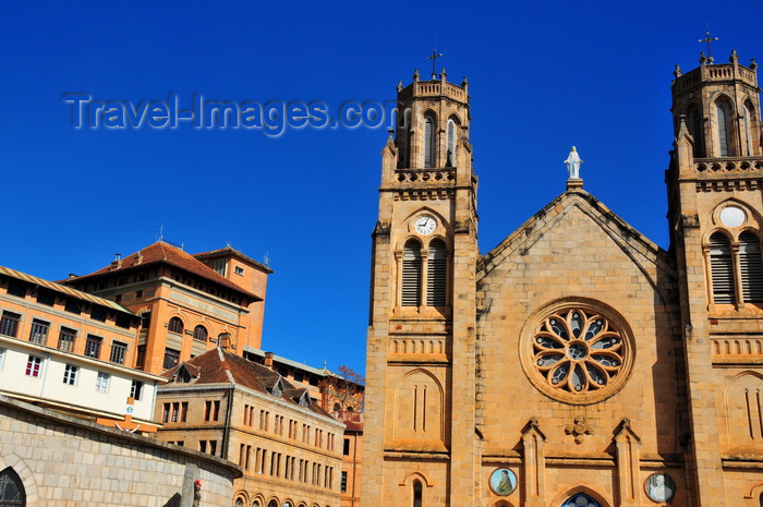 madagascar386: Antananarivo / Tananarive / Tana - Analamanga region, Madagascar: Andohalo cathedral, Maison Labord and the former lycée Galliéni - photo by M.Torres - (c) Travel-Images.com - Stock Photography agency - Image Bank