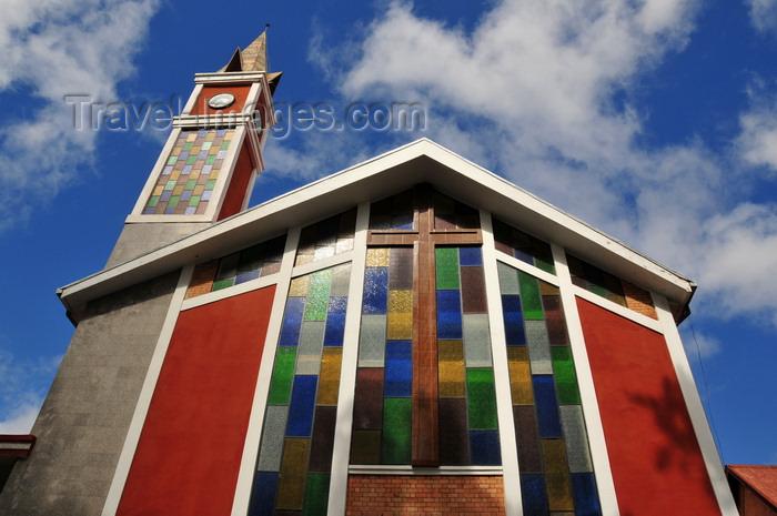 madagascar395: Antananarivo / Tananarive / Tana - Analamanga region, Madagascar: church with colourful glass, near the stadium - Mahamasina - photo by M.Torres - (c) Travel-Images.com - Stock Photography agency - Image Bank