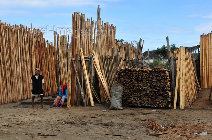 madagascar77: Toamasina / Tamatave, Madagascar: timber dealer at the city entrance - photo by M.Torres - (c) Travel-Images.com - Stock Photography agency - Image Bank