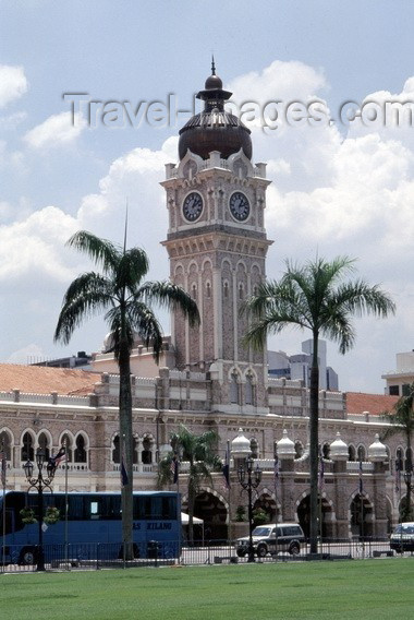 mal29: Malaysia - Kuala Lumpur -  KL / KUL: palace of Sultan Abdul Samad - designed by British architect A.C Norman - Moorish architecture - Merdeka square / Freedom square (photo by J.Kaman) - (c) Travel-Images.com - Stock Photography agency - Image Bank