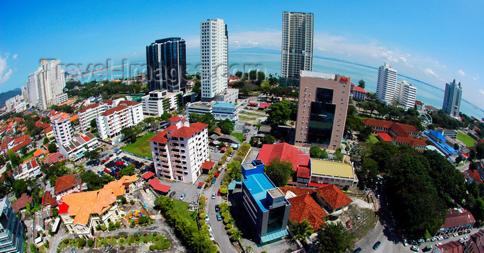 mal379: Penang city skyline - fish eye view, Penang, Malaysia. 