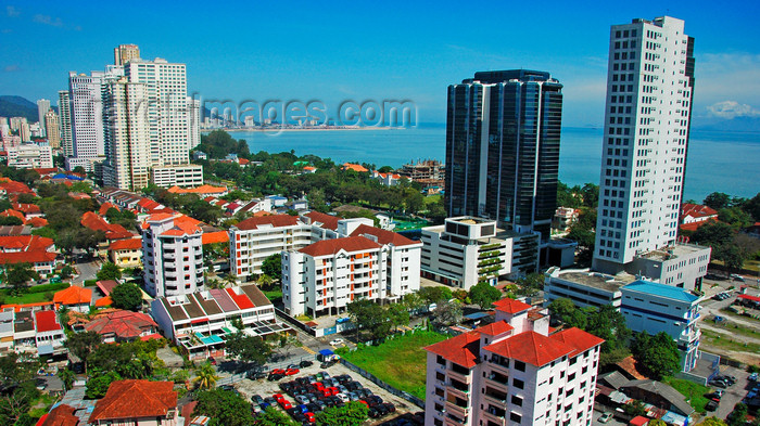 mal384: Penang city skyline - waterfront, Penang, Malaysia.   photo by B.Lendrum - (c) Travel-Images.com - Stock Photography agency - Image Bank