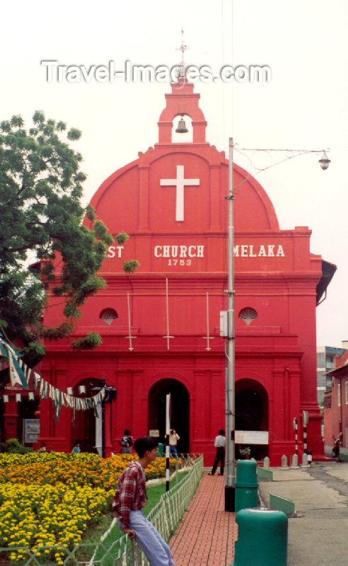 mal4: Malaysia - Malacca / Melaka / MKZ : red church on Jalan Kota - Dutch Square or Red Square (photo by M.Torres) - (c) Travel-Images.com - Stock Photography agency - Image Bank