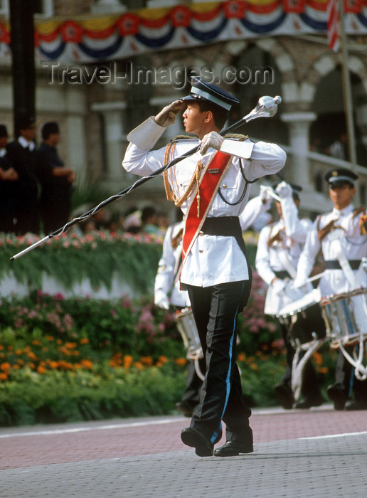 mal472: National day military parade - soldiers, Kuala Lumpur, Malaysia - photo by B.Lendrum - (c) Travel-Images.com - Stock Photography agency - Image Bank
