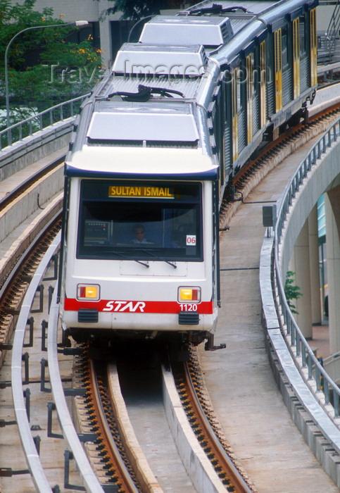 mal489: Kuala Lumpur, Malaysia: LRT train system - train to Sultan Ismail - Sistem Transit Aliran Ringan Sdn Bhd (Star-LRT) - photo by B.Henry - (c) Travel-Images.com - Stock Photography agency - Image Bank