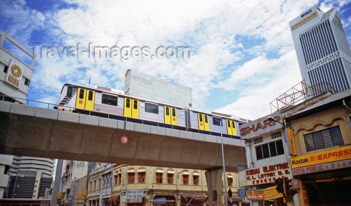 mal490: Kuala Lumpur, Malaysia: elevated train system, Star light rail transit, LRT -  Kuala Lumpur Rail Transit System - photo by B.Henry - (c) Travel-Images.com - Stock Photography agency - Image Bank
