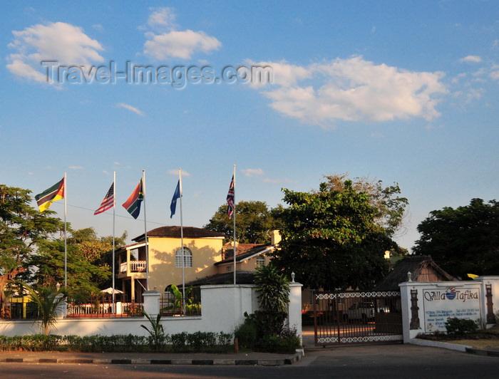 malawi111: Mangochi, Malawi: Villa Tafika, historic lodge, built in 1891 - former Hotel Fort Johnston and European Club - Clock tower circle - photo by M.Torres - (c) Travel-Images.com - Stock Photography agency - Image Bank