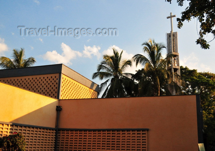 malawi118: Mangochi, Malawi: Mangochi Cathedral of St. Augustine - modern church - former Fort Johnston - photo by M.Torres - (c) Travel-Images.com - Stock Photography agency - Image Bank