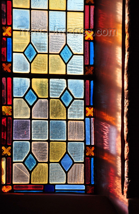 malawi46: Blantyre, Malawi: St Michael and All Angels Church - coloured light pours through a window - photo by M.Torres - (c) Travel-Images.com - Stock Photography agency - Image Bank