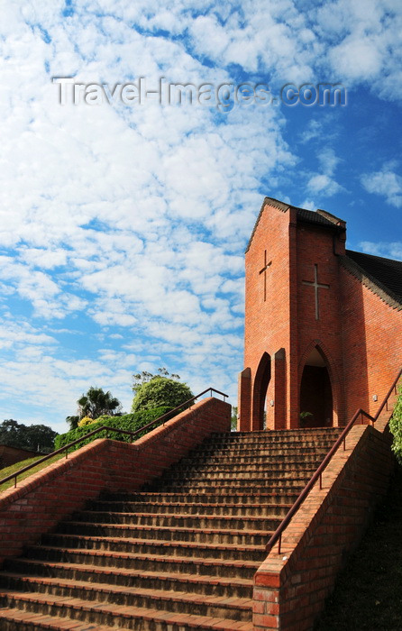 malawi59: Blantyre, Malawi: red brick church, Kaohsiung rd - photo by M.Torres - (c) Travel-Images.com - Stock Photography agency - Image Bank