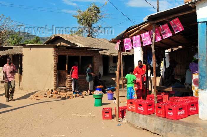 malawi82: Cape Maclear / Chembe, Malawi: Coca-Cola supply chain in action - Coca-Cola logistics reaches the remotest places, while gasoline is nowhere to be found - photo by M.Torres - (c) Travel-Images.com - Stock Photography agency - Image Bank
