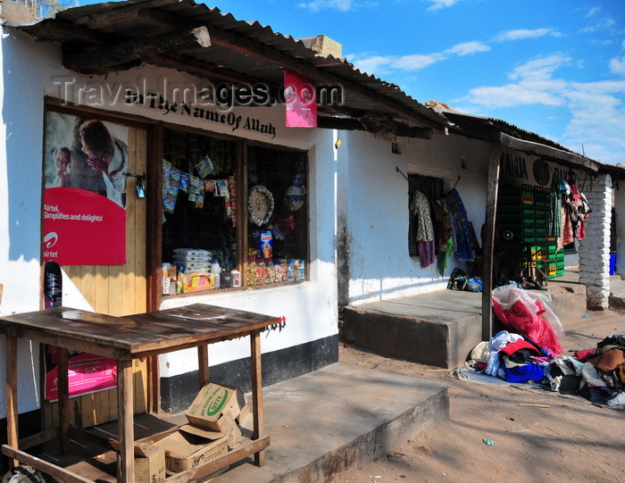 malawi83: Cape Maclear / Chembe, Malawi: 'In the name of Allah' grocery store - Nankumba Peninsula - photo by M.Torres - (c) Travel-Images.com - Stock Photography agency - Image Bank