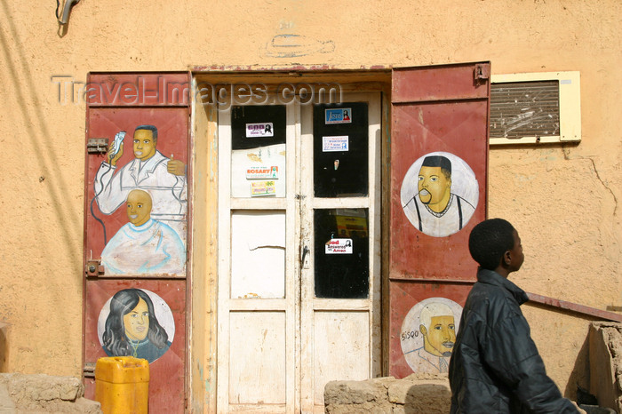 mali52: Mali - Mopti - adds at an hairdresser - photo by E.Andersen - (c) Travel-Images.com - Stock Photography agency - Image Bank