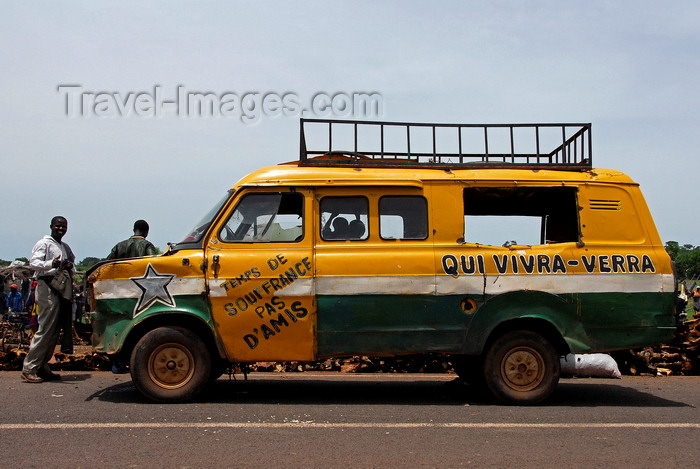 mali81: Kati,  Koulikoro Region, Mali: shared van taxi at the cattle market - taxi brousse - Sotrouma - photo by J.Pemberton - (c) Travel-Images.com - Stock Photography agency - Image Bank