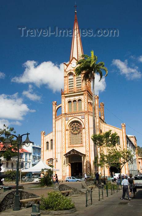 martinique1: Fort-de-France, Martinique: Cathedral of Saint-Louis - Rue Schoelcher, Msg. Roméro square - French West Indies, Caribbean - photo by D.Smith - (c) Travel-Images.com - Stock Photography agency - Image Bank