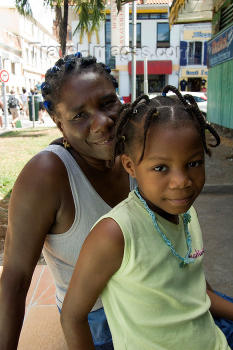 martinique15: Fort-de-France, Martinique: mother and daughter - photo by D.Smith - (c) Travel-Images.com - Stock Photography agency - Image Bank