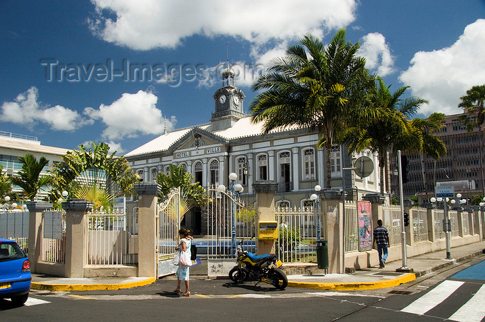 martinique23: Fort-de-France, Martinique: Hôtel de Ville, modeled after the Petit Trianon at Versailles - photo by D.Smith - (c) Travel-Images.com - Stock Photography agency - Image Bank