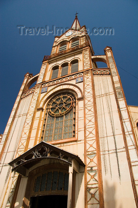 martinique26: Fort-de-France, Martinique: Cathedral of Saint-Louis - architect Henri Picq - spire - photo by D.Smith - (c) Travel-Images.com - Stock Photography agency - Image Bank