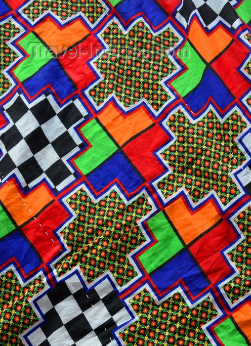 mauritania13: Nouakchott, Mauritania: traditional khaima tent used in nomadic life in the Sahara desert - geometrical pattern with vivid colors - photo by M.Torres - (c) Travel-Images.com - Stock Photography agency - Image Bank