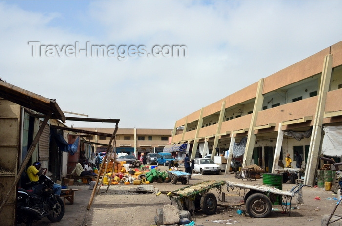 mauritania17: Nouakchott, Mauritania: buildings of the Moroccan Market aka Socogim market - photo by M.Torres - (c) Travel-Images.com - Stock Photography agency - Image Bank