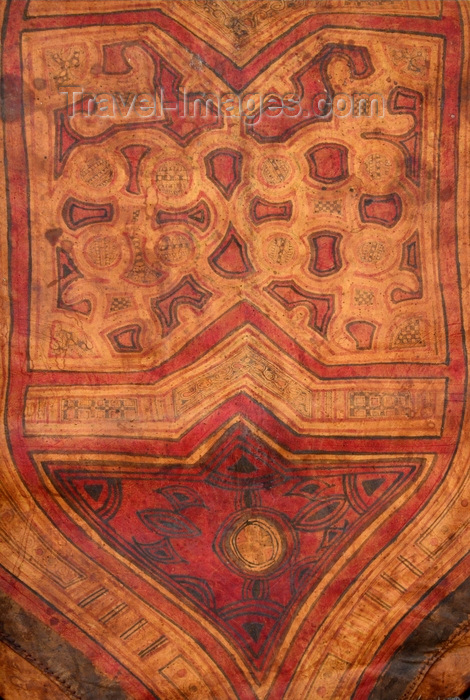 mauritania24: Nouakchott, Mauritania: detail of a Surmi, a camel leather cushion, decorated with painted geometrical ornaments, typically used in the desert in Khaima tents - photo by M.Torres - (c) Travel-Images.com - Stock Photography agency - Image Bank