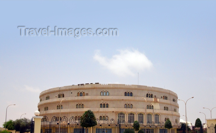 mauritania43: Nouakchott, Mauritania: the colosseum inspired NASR building - the National Insurance and Reinsurance company - Nationale d'Assurance et de Réassurance - photo by M.Torres - (c) Travel-Images.com - Stock Photography agency - Image Bank