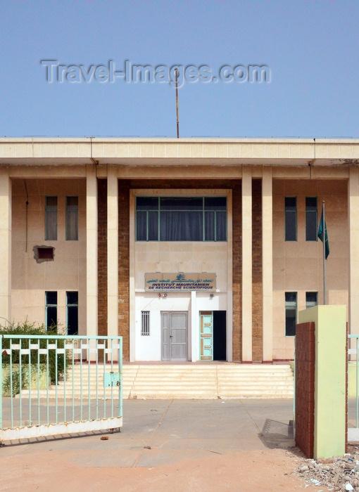 mauritania61: Nouakchott, Mauritania: entrance to the building of the Mauritanian Institute for Scientific Research (IMRS -  Institut Mauritanien de Recherche Scientifique) - photo by M.Torres - (c) Travel-Images.com - Stock Photography agency - Image Bank