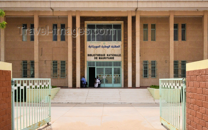 mauritania67: Nouakchott, Mauritania: people sit at the entrance of the National Library of Mauritania - photo by M.Torres - (c) Travel-Images.com - Stock Photography agency - Image Bank