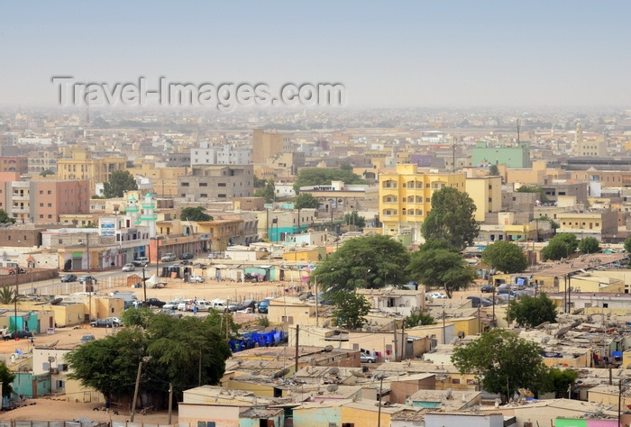 mauritania7: Nouakchott, Mauritania: skyline with shanty town market in the city center - photo by M.Torres - (c) Travel-Images.com - Stock Photography agency - Image Bank