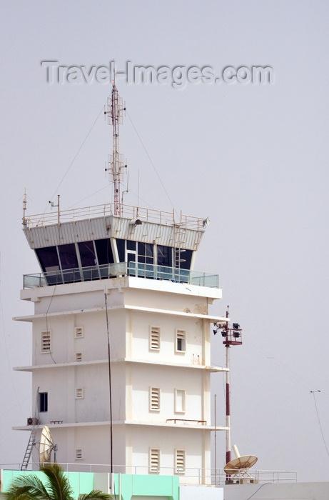 mauritania76: Nouakchott, Mauritania: old white control tower of the Nouakchott International Airport - Aéroport de Nouakchott - photo by M.Torres - (c) Travel-Images.com - Stock Photography agency - Image Bank