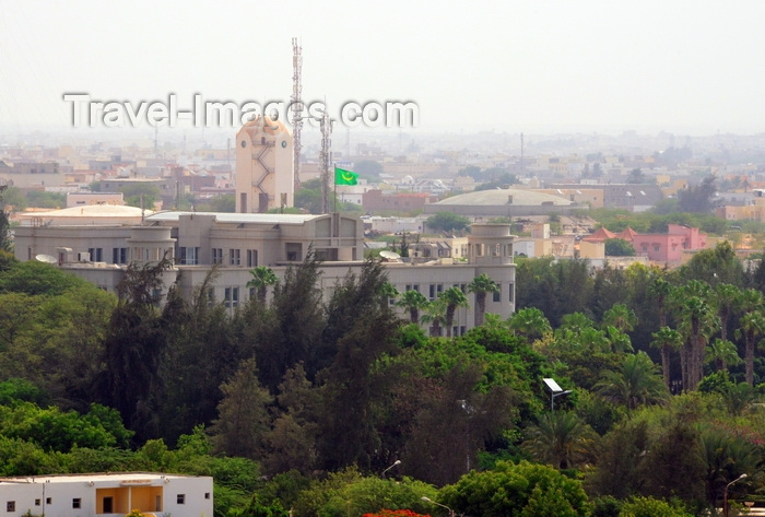 mauritania8: Nouakchott, Mauritania: the Mauritnian presidential palace surrounded by its large garden - photo by M.Torres - (c) Travel-Images.com - Stock Photography agency - Image Bank