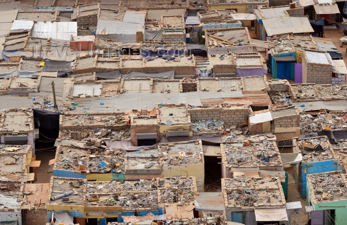 mauritania9: Nouakchott, Mauritania: slum in the city center, seen from above - photo by M.Torres - (c) Travel-Images.com - Stock Photography agency - Image Bank