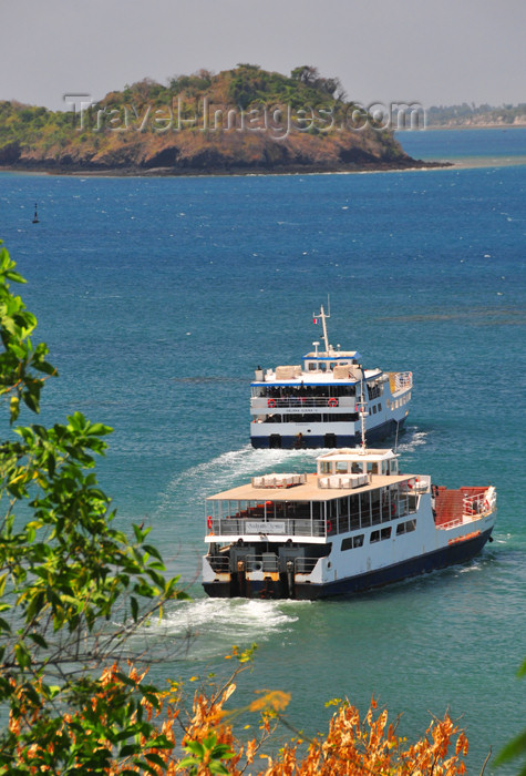 mayotte18: Mamoudzou, Grande-Terre / Mahore, Mayotte: two ferries leave the capital - barges STM - photo by M.Torres - (c) Travel-Images.com - Stock Photography agency - Image Bank