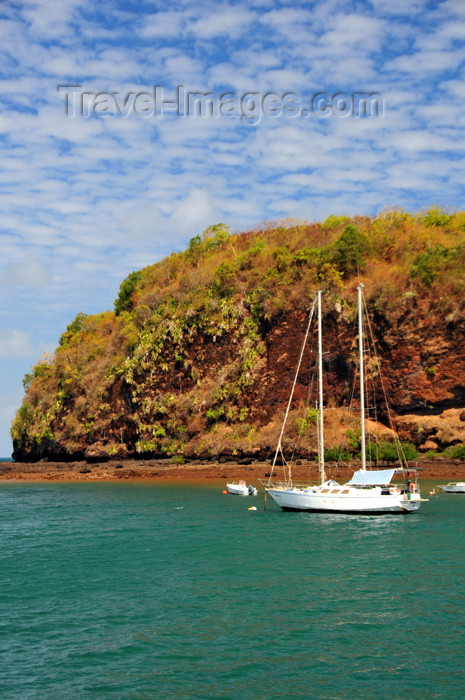mayotte37: Mamoudzou, Grande-Terre / Mahore, Mayotte: yacht and the northeastern corner of Pointe Mahabou - photo by M.Torres - (c) Travel-Images.com - Stock Photography agency - Image Bank