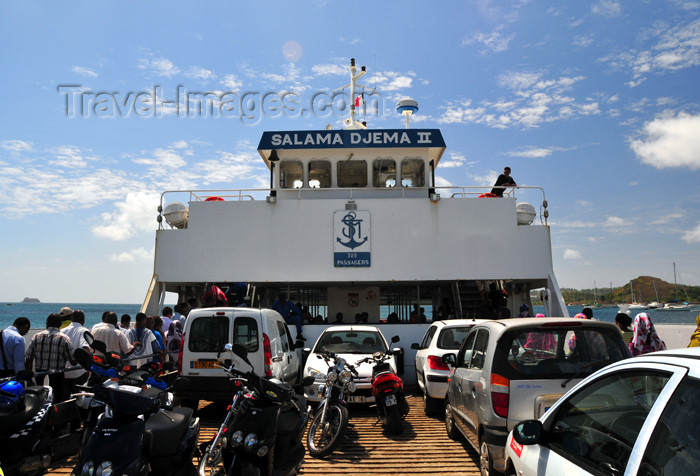 mayotte67: Dzaoudzi, Petite-Terre, Mayotte: on the the ferry to Mamoudzou - STM's Salama Djema II - photo by M.Torres - (c) Travel-Images.com - Stock Photography agency - Image Bank