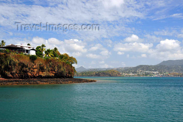 mayotte73: Dzaoudzi, Petite-Terre, Mayotte: the 'Rocher' with Mamoudzou in the background - photo by M.Torres - (c) Travel-Images.com - Stock Photography agency - Image Bank