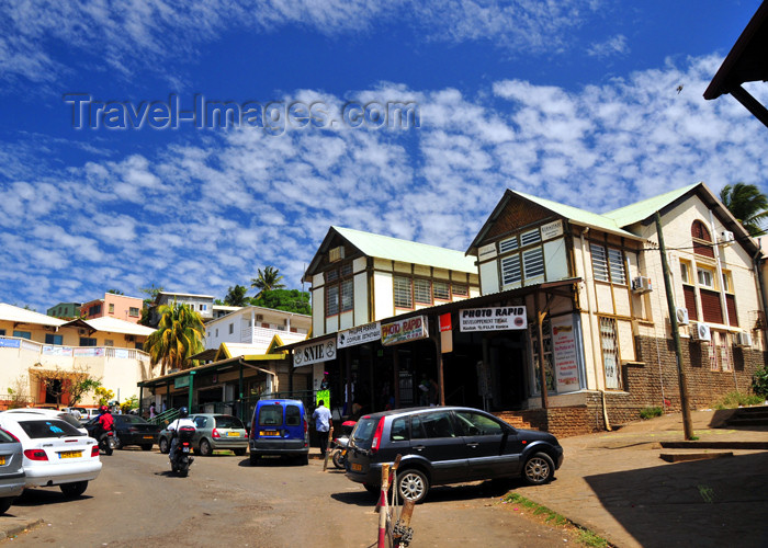 mayotte9: Mamoudzou, Grande-Terre / Mahore, Mayotte: shops along Rue du Marché - photo by M.Torres - (c) Travel-Images.com - Stock Photography agency - Image Bank