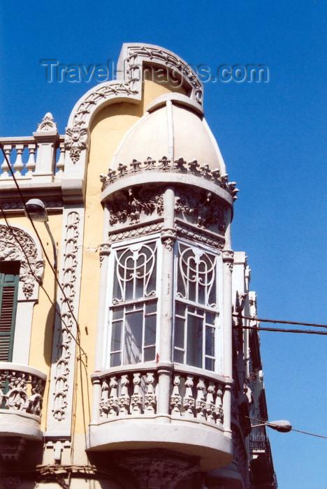 melilla19: Melilla: balcony / balcon modernista - photo by M.Torres - (c) Travel-Images.com - Stock Photography agency - Image Bank